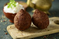 Kibbeh, a levantine dish Stock Photo