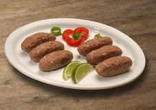 Kibbeh raw. Also popular party dish in Brazil (kibe) Stock Photos