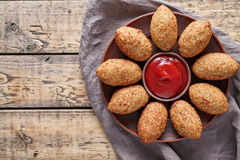 Kibbeh traditional middle eastern arabic lamb meat stuffed and bulgur kofta spicy meatballs Royalty Free Stock Photography