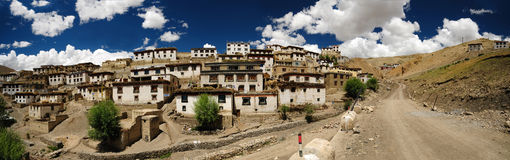 Kibber village panorama stock photo