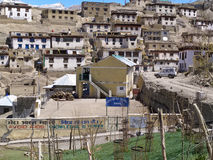 Kibber village in Spiti valley. Indian Himalayas. Royalty Free Stock Image