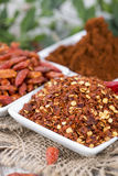 Kibbled Chilli Fruits Royalty Free Stock Images