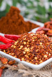 Kibbled Chilli Fruits Stock Photography
