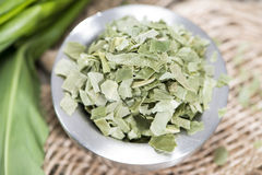 Kibbled Ramson in a bowl Royalty Free Stock Photography