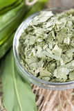 Kibbled Ramson in a bowl Stock Image