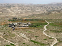 Kibbutz nearby Herodium � King Herod's Palace-Fortress, Judean Desert, Israel Royalty Free Stock Photos