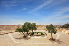 Kibbutz Sde Boker. In the Negev desert. Graves first Israeli Prime Minister Ben-Gurion and his wife Pauline Royalty Free Stock Images