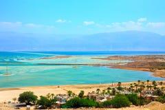 Kibbuzim auf der Bank des Toten Meers Stockbilder
