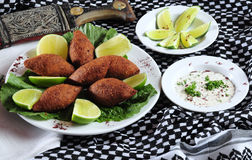 Kibe frit. Cuisine du Moyen-Orient Image stock