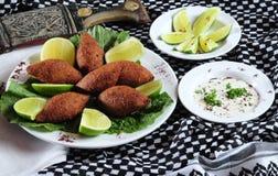 Kibe frito. Cocina de Oriente Medio Imagen de archivo