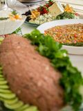 Kibe raw arabic tradition. Cuisine lebanese food Royalty Free Stock Photos