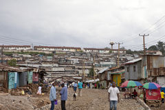 Kibera,肯尼亚 免版税库存照片