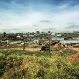 Kibera στο Ναϊρόμπι, Κένυα Στοκ εικόνα με δικαίωμα ελεύθερης χρήσης