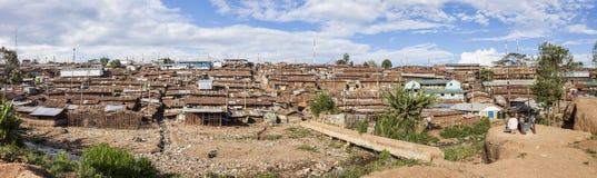 kibera贫民窟全景  免版税库存照片