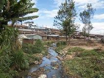 Kibera贫民窟 免版税图库摄影