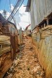 Kibera slum in Nairobi, Kenya. Royalty Free Stock Photos