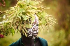 Portrait of unidentified Surmi boy stock images