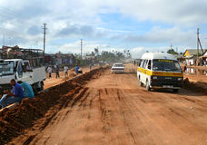 KIBITI TANZANIA - DESEMBER 2, 2008: byn. Royaltyfri Fotografi