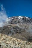 Kibo peak in Mount Kilimanjaro, Tanzania Royalty Free Stock Photo
