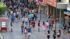 Kibris Sehitleri street is the most popular tourism destination at Izmir city center. IZMIR - ALSANCAK; JULY 2015: Kibris Sehitleri street is the most popular stock video footage