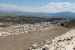 Kibyra forntida stad med Golhisar, Burdur Arkivbilder
