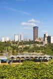 KICC-de Bouw in Nairobi, Kenia, redactie Stock Foto
