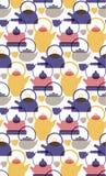 Kichen pattern flat illustration. Home and kitchen surface design series stock illustration
