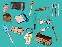 Kichen utensil. Vector set icon drawing kitchen utensil vector illustration