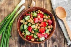 Kichererbsen-Salat Lizenzfreies Stockbild