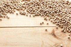 Kichererbsen sehen von oben an stockbild