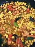 Kichererbsencurry Sri Lankan und indische Art Stockfotos