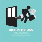 Kick In The Ass Symbol. Stock Photos