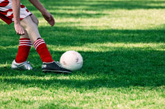 Kick that ball Stock Image