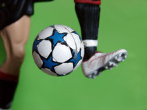 Kick the ball Royalty Free Stock Photography