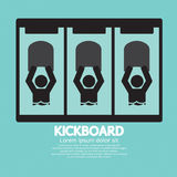 Kick Board Black Symbol. Vector Illustration Stock Photo