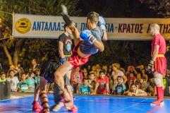 Kick Box fight Stock Image