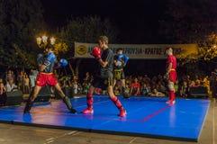 Kick Box fight Stock Photo