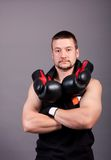 Kick-boxer Royalty Free Stock Photo