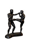 Kick Boxer black model Royalty Free Stock Photo