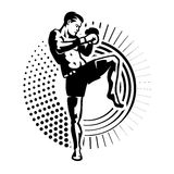 Kick boxer. Stock Image