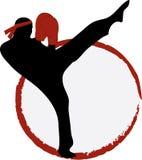 Kick Boxer Silhouette Royalty Free Stock Photo