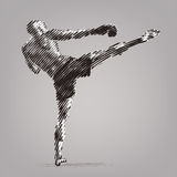 Kick boxer. Royalty Free Stock Images