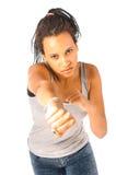 Kick boxing girl Royalty Free Stock Photos