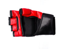 Kick-boxing gloves isolated on the white isolated Stock Photos