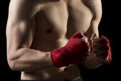 On a kick boxing training Stock Image
