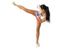 Kick boxing woman Stock Photography