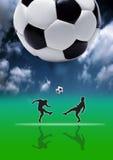 kick för 02 fotboll Royaltyfri Bild