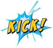 Kick flash Royalty Free Stock Images