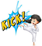 Kick. Girls posing the act of 'kick Royalty Free Stock Image