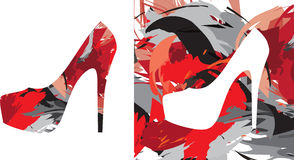 Kick-heeled skor Royaltyfria Foton